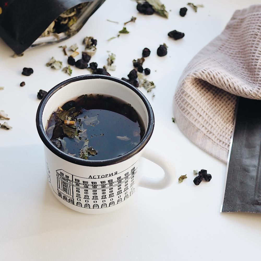 чай с мятой и смородиной